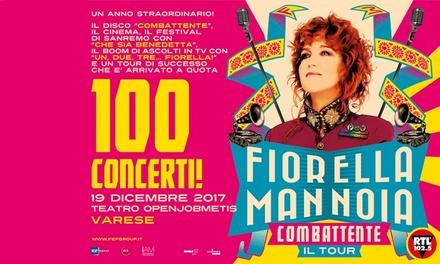 Fiorella Mannoia a Varese, 19 dicembre