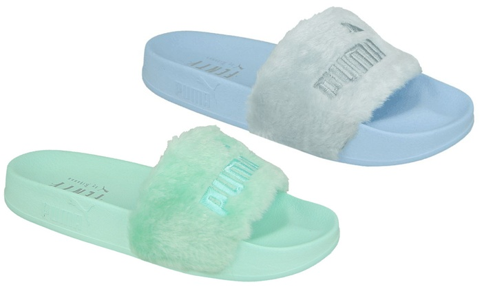 online store c6ee7 998d4 Up To 30% Off Puma Fenty Women's Sliders | Groupon