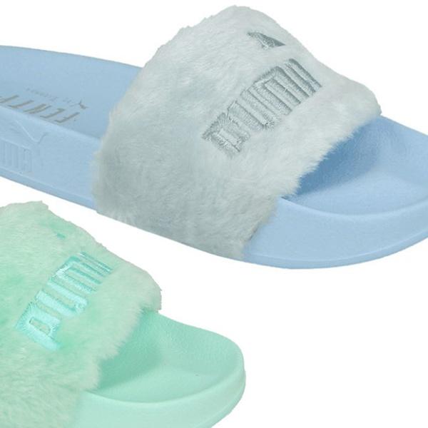 info for 3aa13 f5e67 Puma Fenty Women's Faux Fur Slides