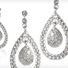 $39 for a Pair of Diamond Teardrop Earrings