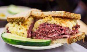 New York Deli: Deli Fare at New York Deli (Up to 50% Off). Three Options Available.