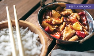 Old Town Chinese Restaurant: Three-Course Chinese Meal with Side and Wine or Beer for Two at Old Town Chinese Restaurant (Up to 41% Off)