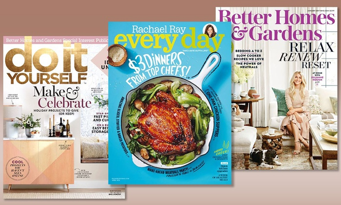 Magazine subscriptions procirc promotions groupon subscription to better homes gardens diy or rachael ray every solutioingenieria Gallery