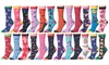 Frenchic Women's Socks with Humorous Prints (12 Pairs)