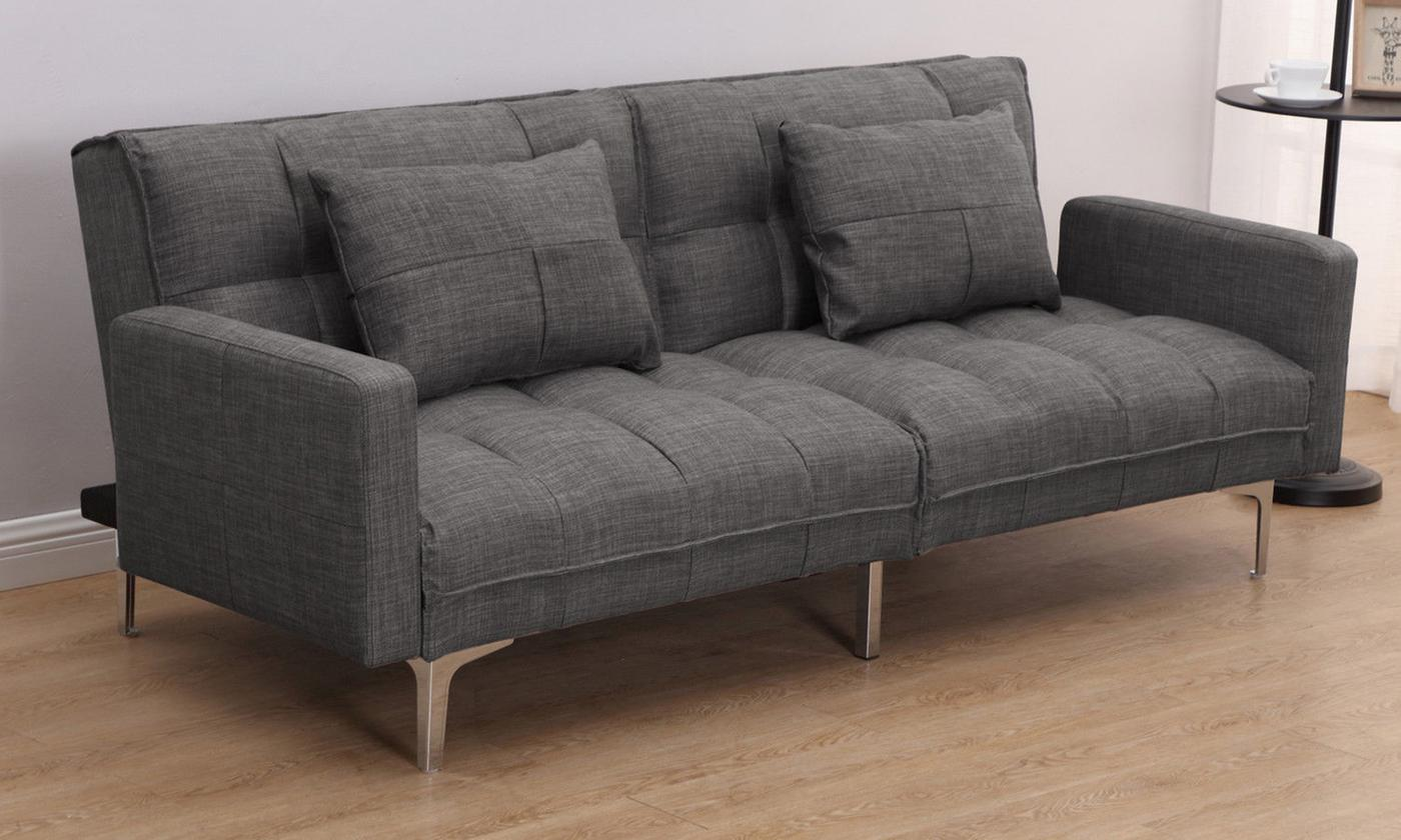 homcom-modern-fabric-sofa-bed