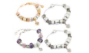 Bracelet à breloques ornés de cristaux Swarovski®