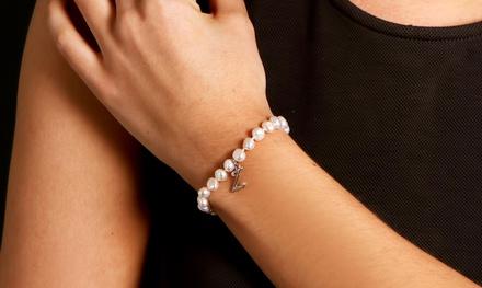 Freshwater Pearl Initial Bracelet