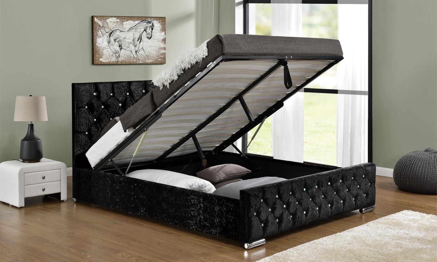 Arya Ottoman Bed with Optional Mattress (£429)