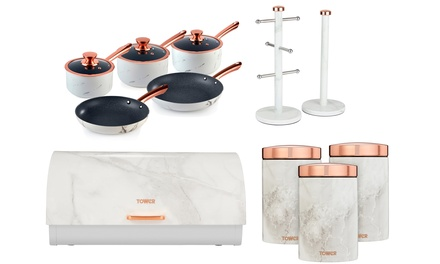 Tower Marble Storage and Pan Sets