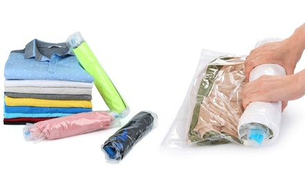 One, Two, or Three Sets of Rolling Compression Vacuum Bags from AED 59