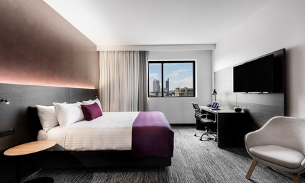 Perth: One or Two Nights for Two People with Late CheckOut, Breakfast and Option for Wine at Groupon Mystery Hotel