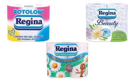 Fino a 60 rotoli di carta igienica Regina disponibile in 3 tipologie