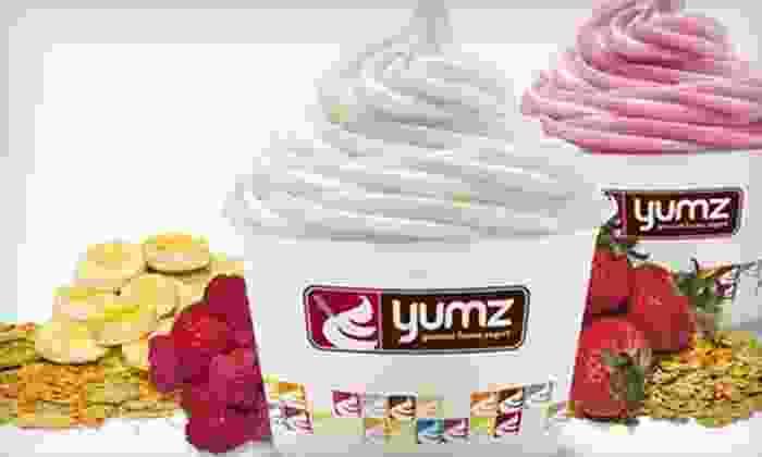 Yumz Gourmet Frozen Yogurt - Multiple Locations: $5 for $10 Worth of Frozen Yogurt at Yumz Gourmet Frozen Yogurt