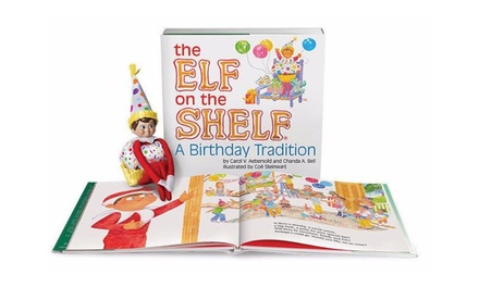 The Elf on the Shelf Birthday Tradition Book with Elf Cupcake Suit and Hat