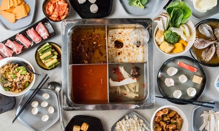 AYCE Hot Pot + Glass of Beer or Wine $55, 4 $110 or 6 People $165 at Dynasty Hotpot Up to $288 Value