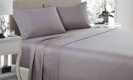 1200TC FourPiece Ultra Soft Sheet Set: Double $35, Queen $39 or King $45 Don't Pay up to $219