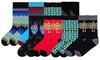 K. Bell Men's Socks: K. Bell Men's Skull-and-Robot or Geometric Crew Socks