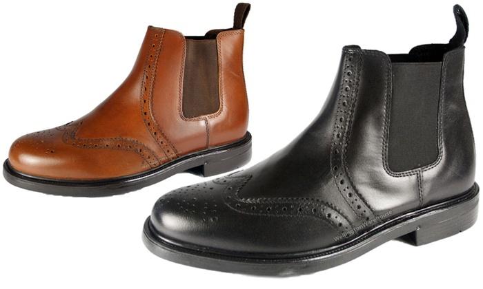 9ec372afa06 Oaktrak Appleby Brogue Boots | Groupon Goods
