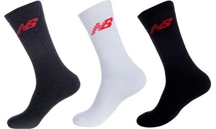 9er- oder 12er-Pack New Balance Socken in Schwarz, Weiß oder Grau  (Frankfurt)