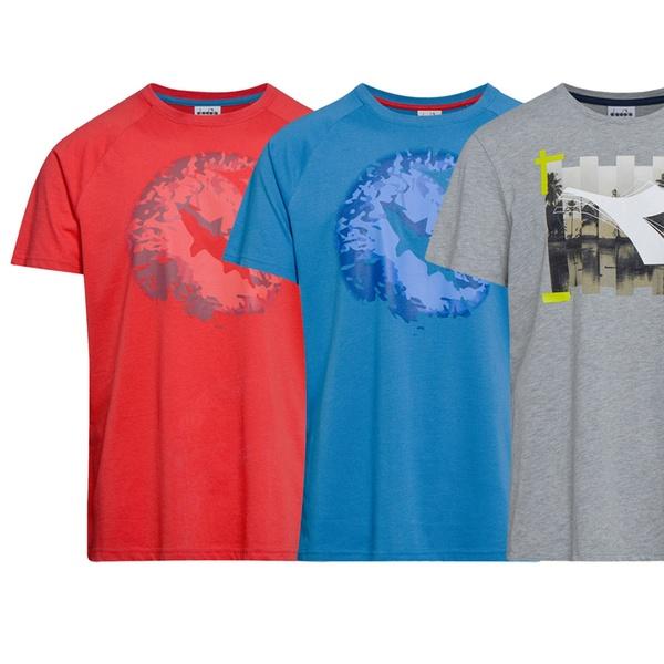T shirt Diadora da uomo disponibile in diverse fantasie 2 modelli e diverse taglie