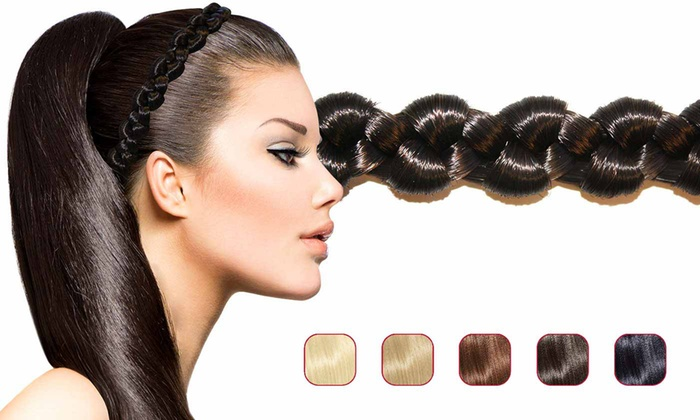 Up To 43% Off on Hollywood Hair Braided Headband  7053d4c5019
