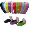 CoverYourHair Bright Faux-Leather Hard Headbands (12-Pack)