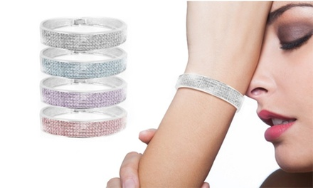 Bracciale Multicristalli, decorato con con 170 cristalli Cubic Zirconia, disponibile in 4 colori