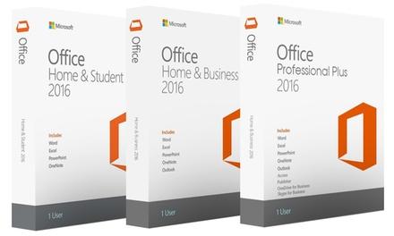 Microsoft Office 2016 dans plusieurs packages pour Windows