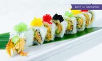 Menu all you can eat sushi per 2 persone o 100 pezzi di sushi a domicilio o in loco daHibana Sushi (sconto fino a 55%)