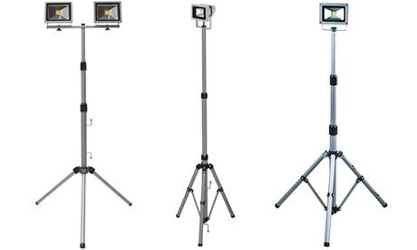 Trípode telescópico con 1 o 2 proyectores LED de exterior (envío gratuito)