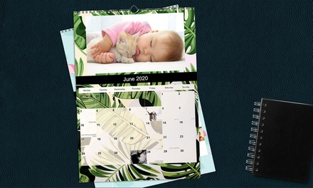 From $6 for a Personalised Wall Calendar in choice of Size (Don't Pay Up To $199.75)