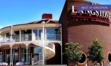 Hayling Island: 1 Night for Two with Breakfast, Dinner and Leisure Access at 4* The Langstone Hotel
