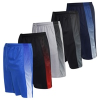 Deals on 5-Pack Real Essentials Mens Mesh Active Shorts with Pockets