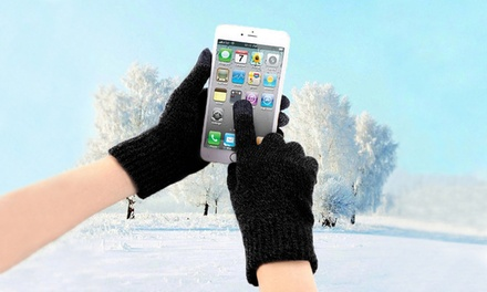 One, Two or Three Pairs of Winter Unisex Touchscreen Gloves