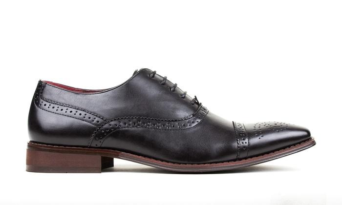 Signature Men s Brogue Cap-Toe Dress Shoes (Size 9.5)  23d1b7755c7