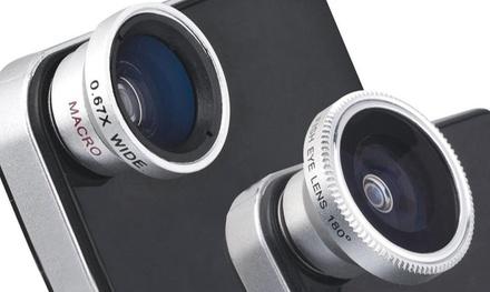 1 o 2 packs de 2 lentes universales 3 en 1 para Smartphone