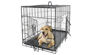 Collapsible Metal Pet Crate with Removable Tray at Collapsible Metal Pet Crate, plus 6.0% Cash Back from Ebates.