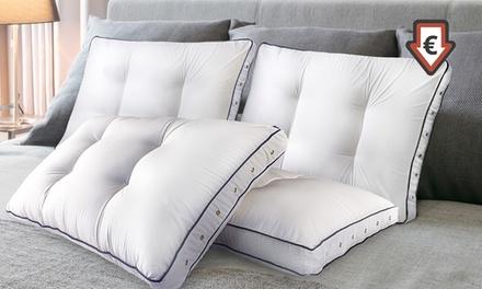 1 ou 2 oreillers mémoire de forme avec ressorts ensachés marque Sampur, dimensions au choix