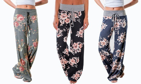 Women's Floral Flare Pants
