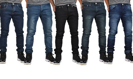 Indigo People Men's Skinny Stretch Jeans