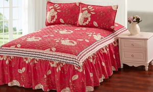 Glory Home Design Bedspread with Bed Skirt Set (3-Piece)