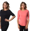 Women's 3/4 Sleeve Crew-Neck Tunic Top (3-Pack) (Size XS)