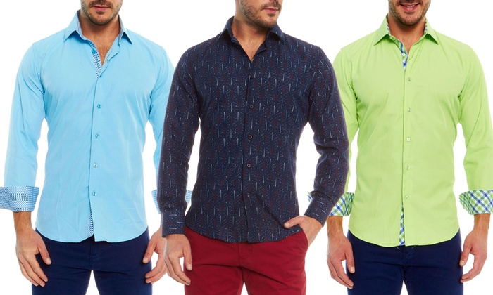 Azaro Uomo Men's Slim-Fit Shirt | Groupon Goods