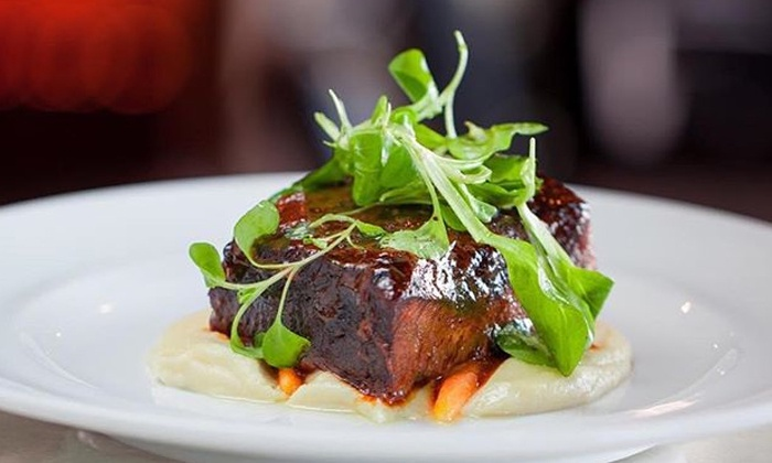 By the Hudson Restaurant - New York: New American Meal for Two with an Appetizer, Entrees, and Drinks at By The Hudson (Up to 44% Off)