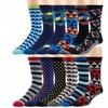 Bond St. Men's Dressy Patterned Crew Socks (2-, 4-, 6-, or 12-Pack)