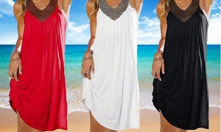 1, 2 ou 3 robes Lola Balotti avec strass sur le col, taille unique
