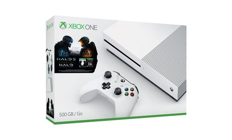 Xbox One S 500GB Console with Halo Collection Bundle