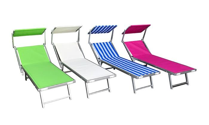 Lettini Da Spiaggia Alluminio.Lettino Da Spiaggia Groupon