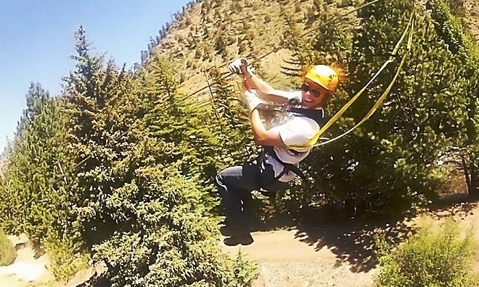 Colorado Adventure Center - Colorado Adventure Center – Dumont Colorado: Zip and Sip Package for One, Two, or Four at Colorado Adventure Center (37% Off)
