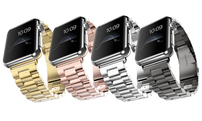 Stainless Steel Band for 38mm or 42mm iWatch with Case from £11.99